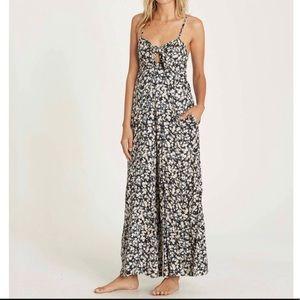Billabong floral jumpsuit